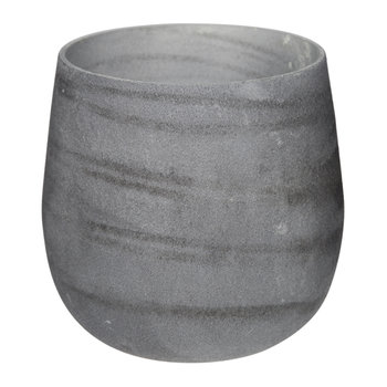 Tornadic Glass Votive - Grey