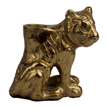 Sitting Tiger Candle Holder - Small