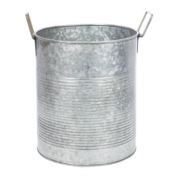 Galvanised Tin Can Planter