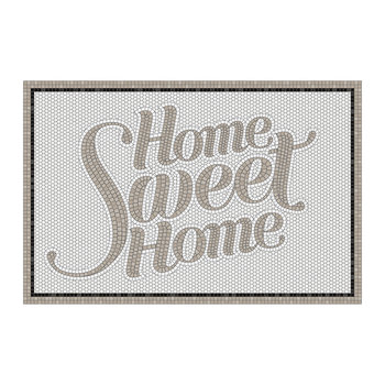 5th Avenue Home Sweet Home Vinyl Door Mat - Gray