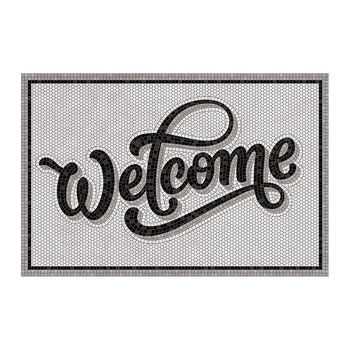 5th Avenue Welcome Vinyl Door Mat - Gray/Black