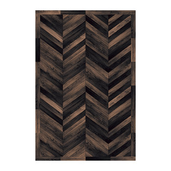 5th Avenue Diagonal Vinyl Floor Mat - Black/Bark
