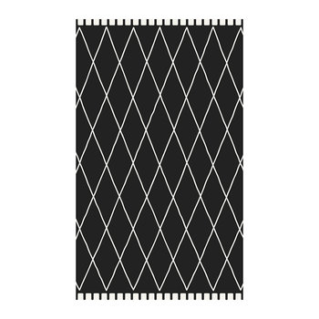 Black Stone Abstract Diamond Vinyl Floor Mat