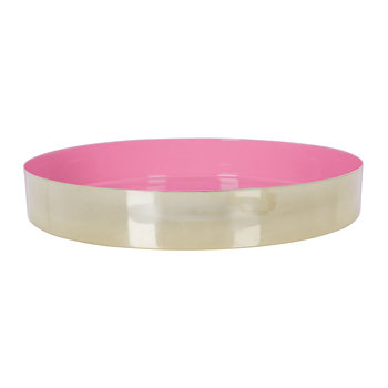 Carousel Tray - Gold/Pink