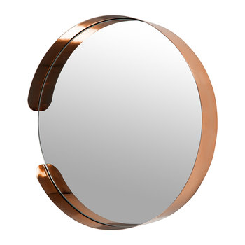 Asymmetric Framed Mirror - Copper