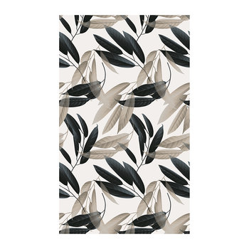 Mirage Leaf Vinyl Floor Mat - Stone/Teal