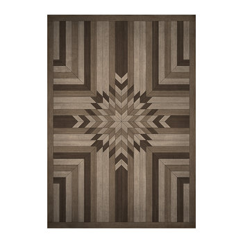 5th Avenue Geometric Vinyl Floor Mat - Bark