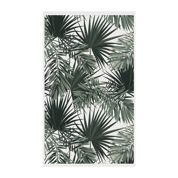 Terre Palm Vinyl Floor Mat - White/Green