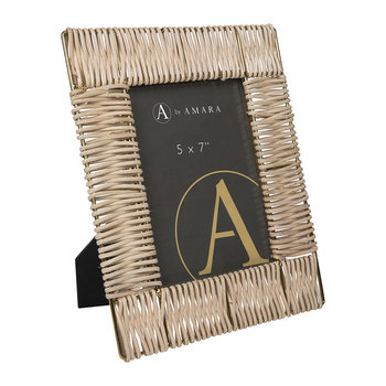 Wicker Weave Photo Frame - 5x7""