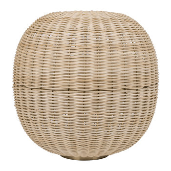Round Wicker Weave Hurricane - Natural