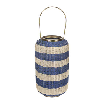 Tall Wicker Weave Hurricane - Blue/White