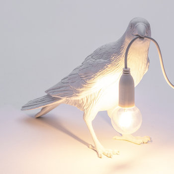 Bird Lamp - Waiting - White