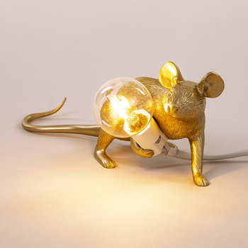 Mouse Lamp - Lying Down - Gold