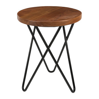 Table d'Appoint Ronde en Bois