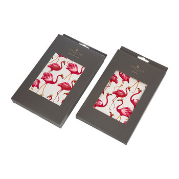 Tea Towel and Oven Mitt Set - Flamingo