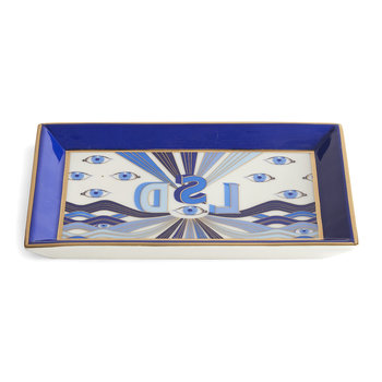 Druggist LSD Rectangle Tray - Multi Blue