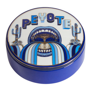 Druggist Peyote Round Box - Multi Blue
