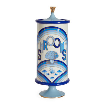Druggist Canister - Large - Multi Blue - Shrooms
