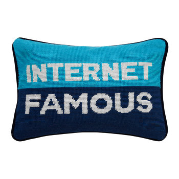 UK Needlepoint Personality Pillow - Internet Famous