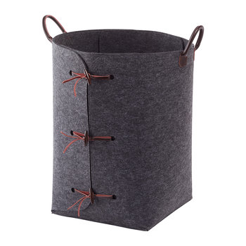 Resa Laundry Basket - Dark Grey