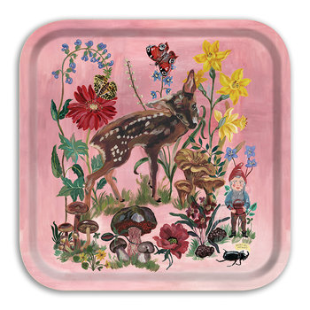 Nathalie Lété In The Garden Of My Dreams Tray - Bambi
