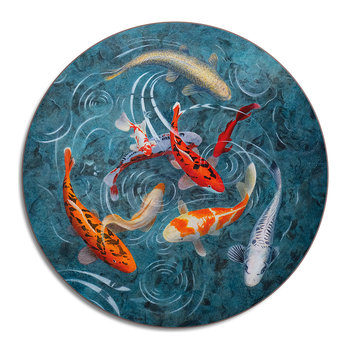 Graham Banister - A Pond Of Koi Fish - Centrepiece Placemat