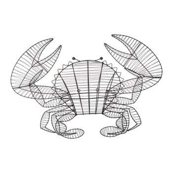 Wire Crab Ornament