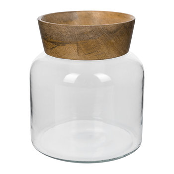 Oundle Glass & Wood Vase