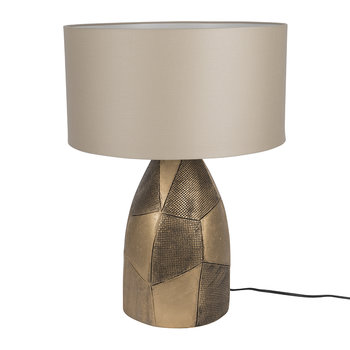 Patterned Gold Ceramic Table Lamp