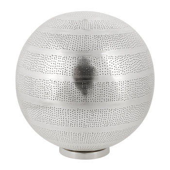 Patterned Silver Floor Lamp
