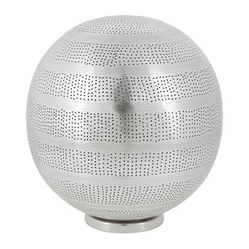 Patterned Silver Table Lamp