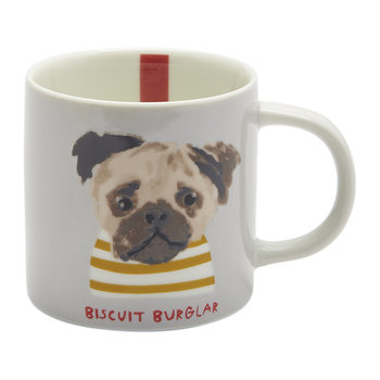Mischievous Mutts Cuppa Mug - Grey Dog