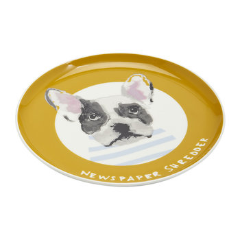 Mischievous Mutts Side Plate - Gold Dog