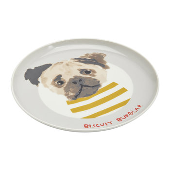 Mischievous Mutts Side Plate - Gray Dog