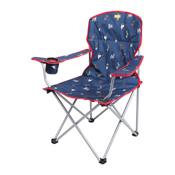 Foldable Picnic Chair - Blue Dog