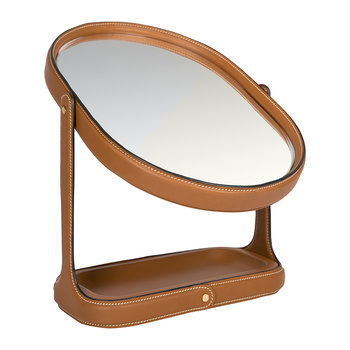 Brennan Vanity Mirror - Saddle