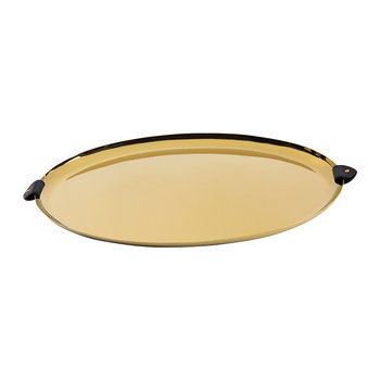 Wyatt Oval Platter - Black/Gold