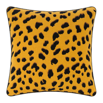 Iggy Leopard Print Pillow - Brown
