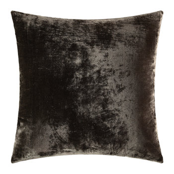 Paddy Velvet Cushion - 50x50cm - Espresso