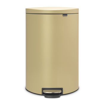 Flatback Space-Saving Pedal Bin - 40 Litres - Mineral Golden Beach