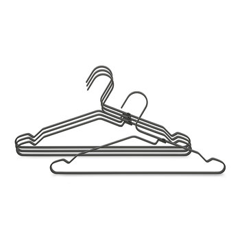 Aluminum Clothes Hanger - Set of 4 - Black