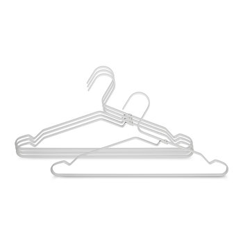 Aluminum Clothes Hanger - Set of 4 - Silver