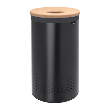 Cork Lid Laundry Bin - Black