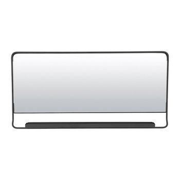 Chic Mirror with Shelf - Black - 80x40cm