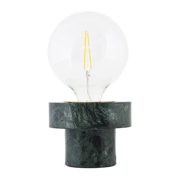 Pin Table Lamp - Green Marble