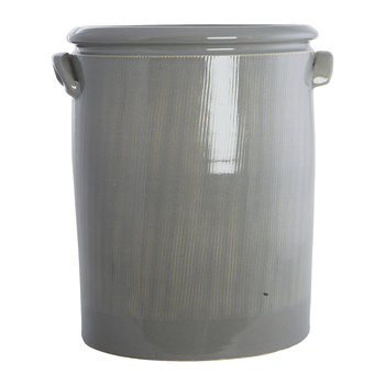 Pottery Planter - XL - Light Grey