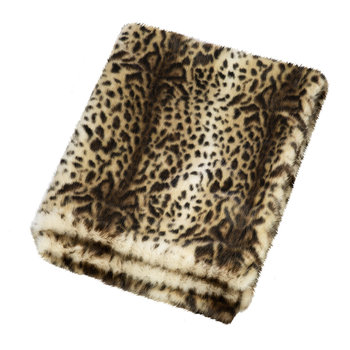 Faux Fur Throw - 180x145cm - Ocelot