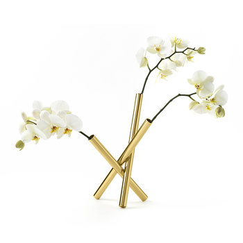 Sticks Flower Pot - Brass