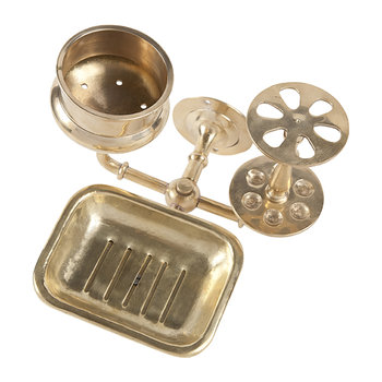 Brass Bath Trio Set - Brass