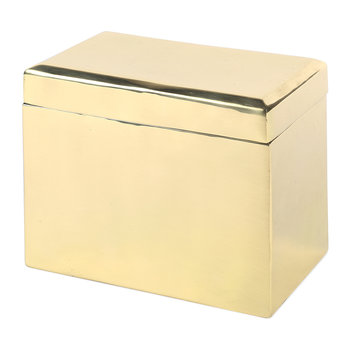 Bevelled Keepsake Box - Brass